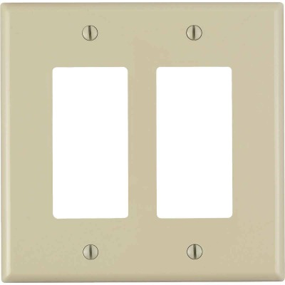 Leviton Decora 2-Gang Plastic Oversized Rocker Decorator Wall Plate, White