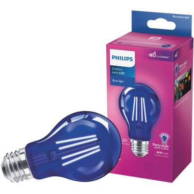Philips Blue A19 Medium 4W Indoor/Outdoor LED Decorative Party Light Bulb
