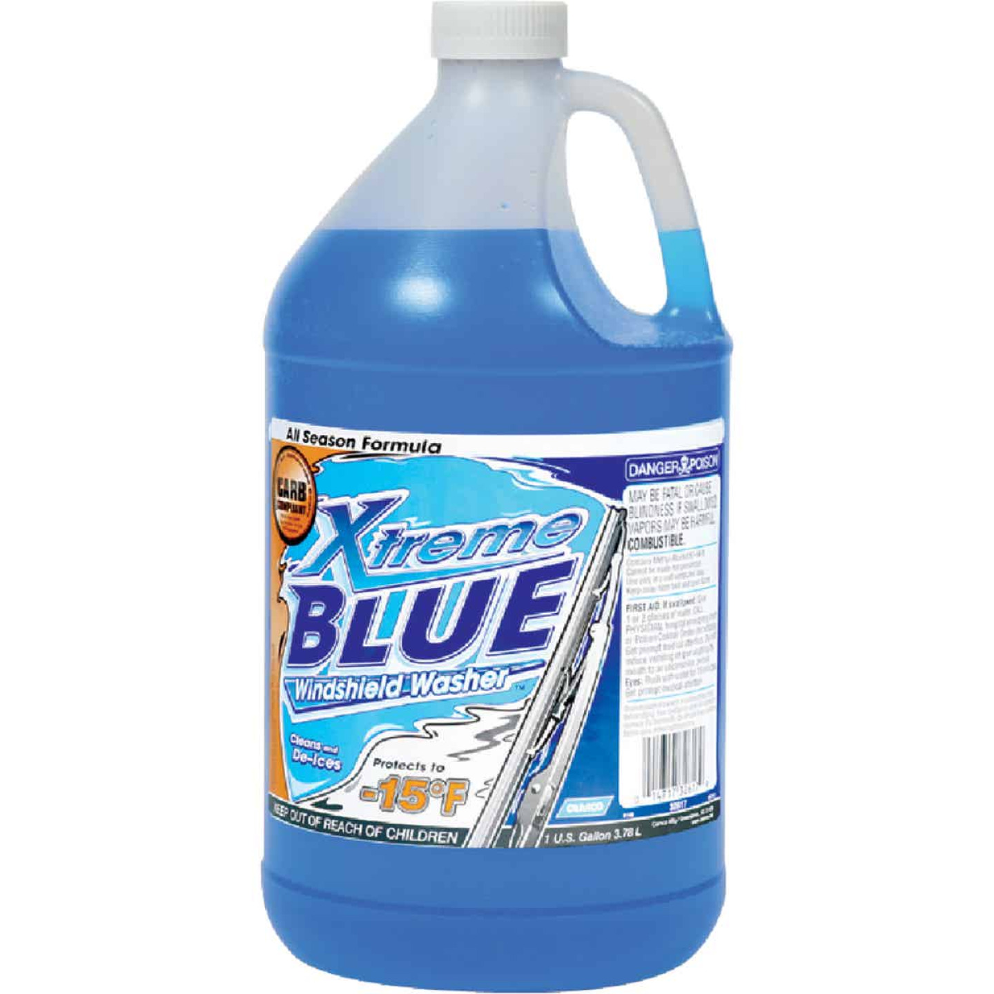 Camco Xtreme Blue 1 Gal. -15 Deg F Temperature Rating Windshield Washer Fluid with Antifreeze Image 1