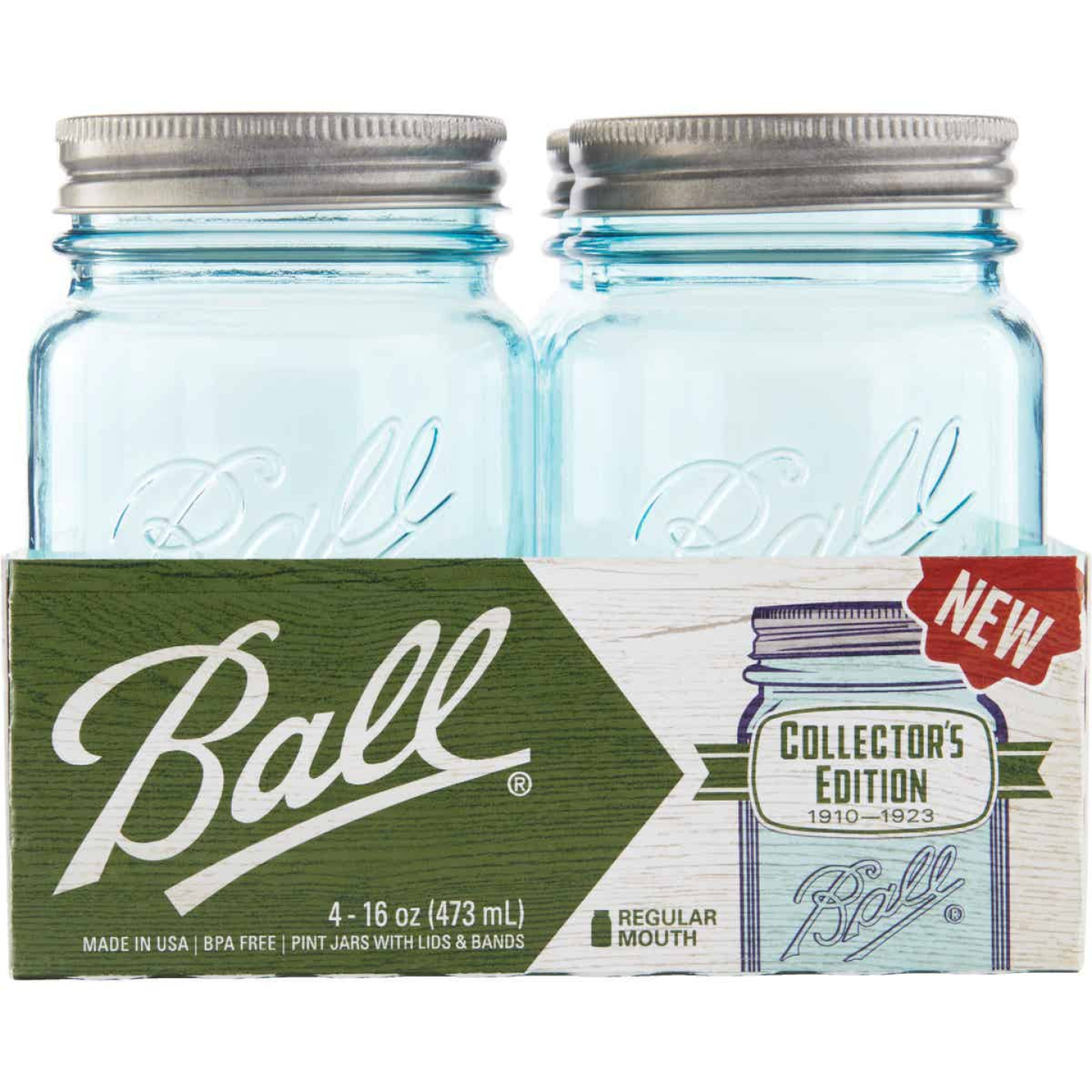Ball Collector's Edition Pint Regular Mouth Aqua Vintage Canning Jar (4-Count) Image 2