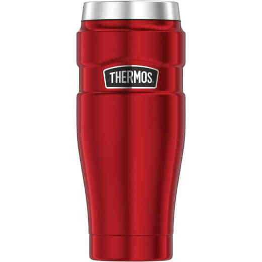 Thermos Stainless King 16 Oz. Matte Red Stainless Steel Travel Tumbler
