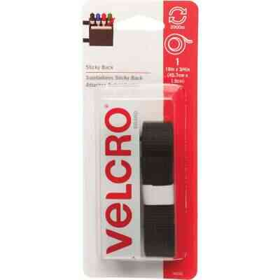 VELCRO Brand 3/4 In. x 18 In. Black Sticky Back Reclosable Hook & Loop Roll