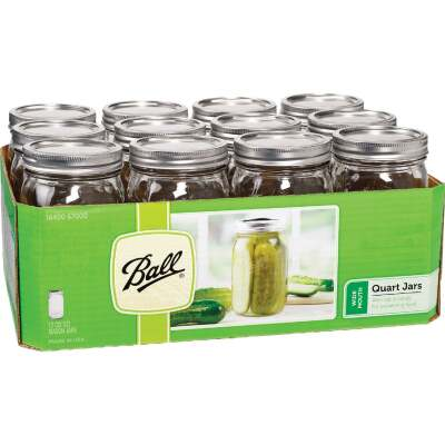 Ball 1 Quart Wide Mouth Mason Canning Jar (12-Count)