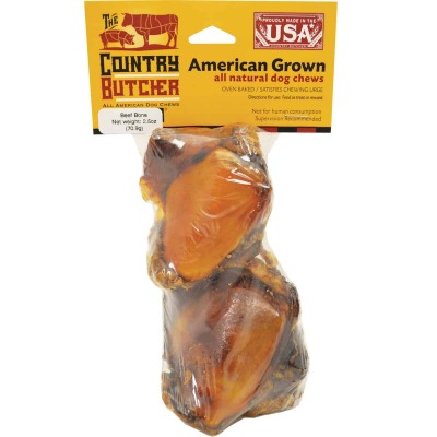 The Country Butcher 2.5 Oz. Beef Knee Cap Chew Bone (2-Pack)