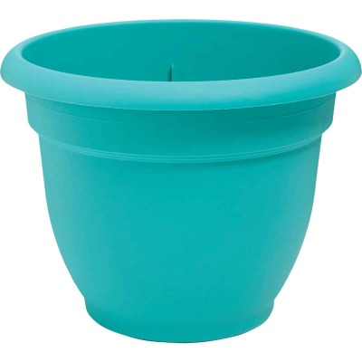 Bloem Ariana 12 In. Plastic Self Watering Bermuda Teal Planter