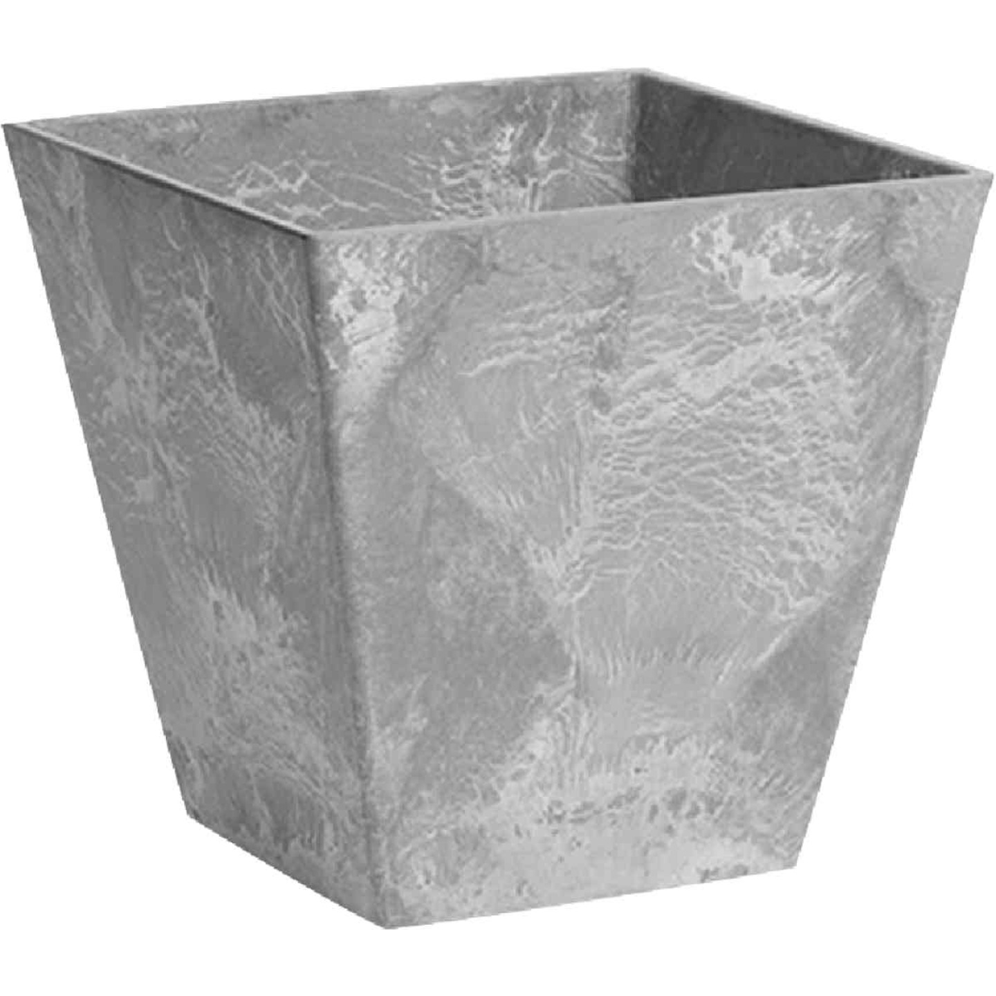 Novelty ArtStone Ella 8 In. W. x 8 In. H. x 8 In. L. Gray Resin Planter Image 1