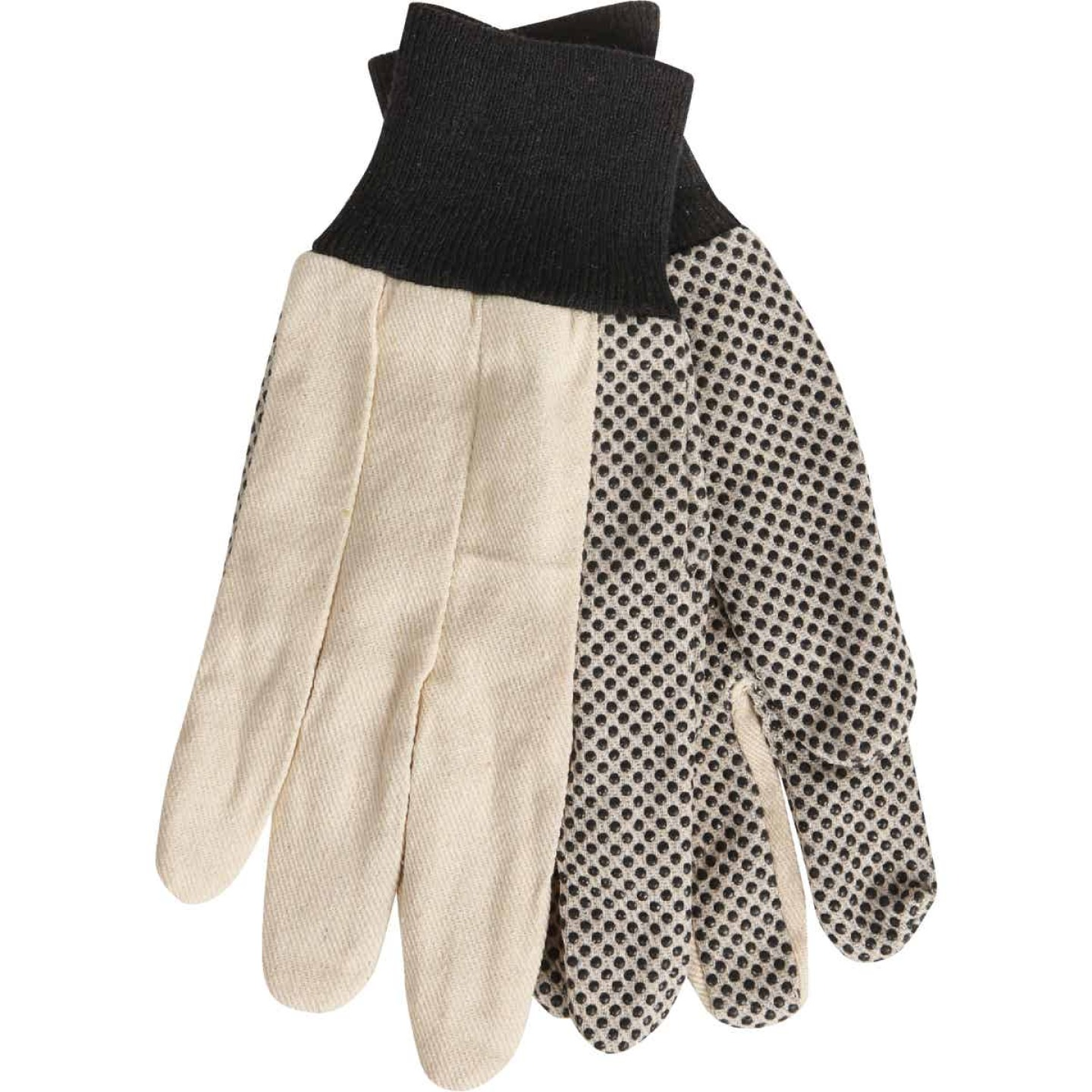 Do it Men's Large PVC Grip Cotton Canvas Work Glove Image 1