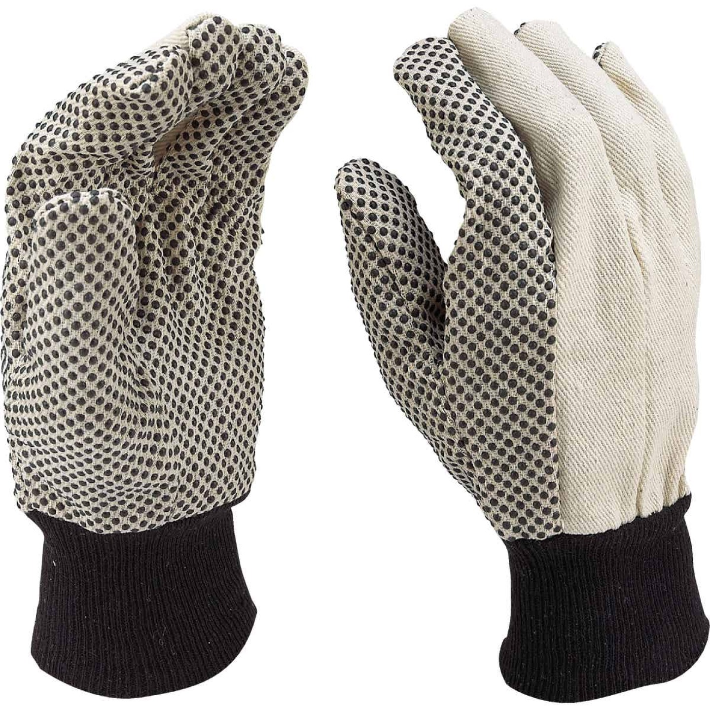 Do it Men's Large PVC Grip Cotton Canvas Work Glove Image 3
