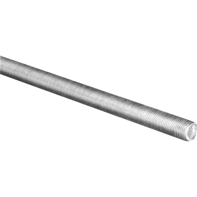 HILLMAN Steelworks 3/8 In. x 3 Ft. Steel Fine Threaded Rod
