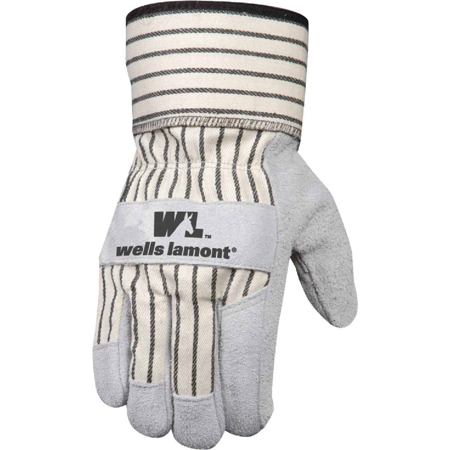 Wells Lamont Men's Large Suede Split Cowhide Leather Work Glove Image 1
