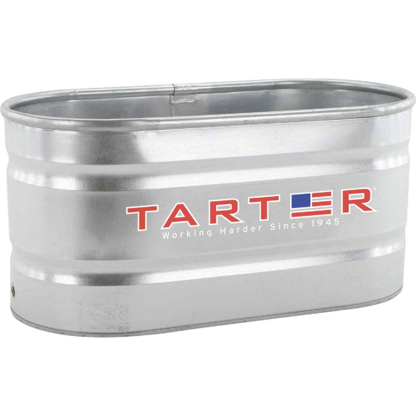Tarter 100 Gal. Zinc-Coated Steel Galvanized Stock Tank Image 1