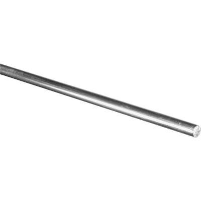 Hillman Steelworks Aluminum 3/8 In. X 6 Ft. Solid Rod