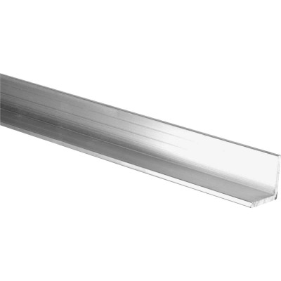 HILLMAN Steelworks Mill 1-1/2 In. x 6 Ft., 1/8 In. Aluminum Solid Angle