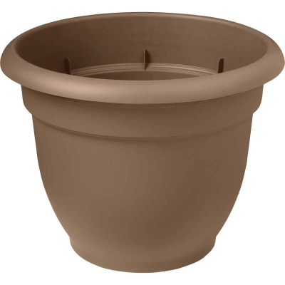 Bloem Ariana 13.75 In. H. x 16 In. Dia. Plastic Self Watering Chocolate Planter