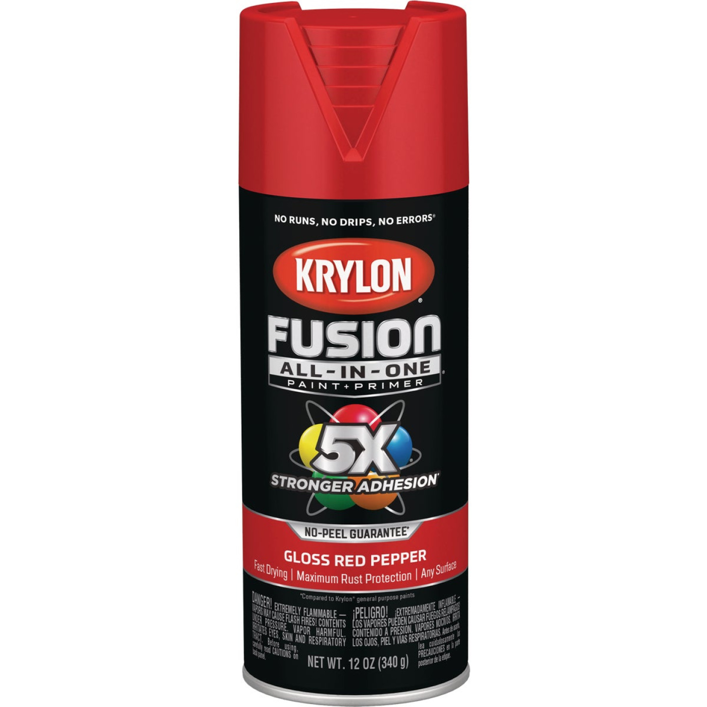 Krylon Fusion All-In-One Gloss Spray Paint & Primer, Red Pepper Image 1