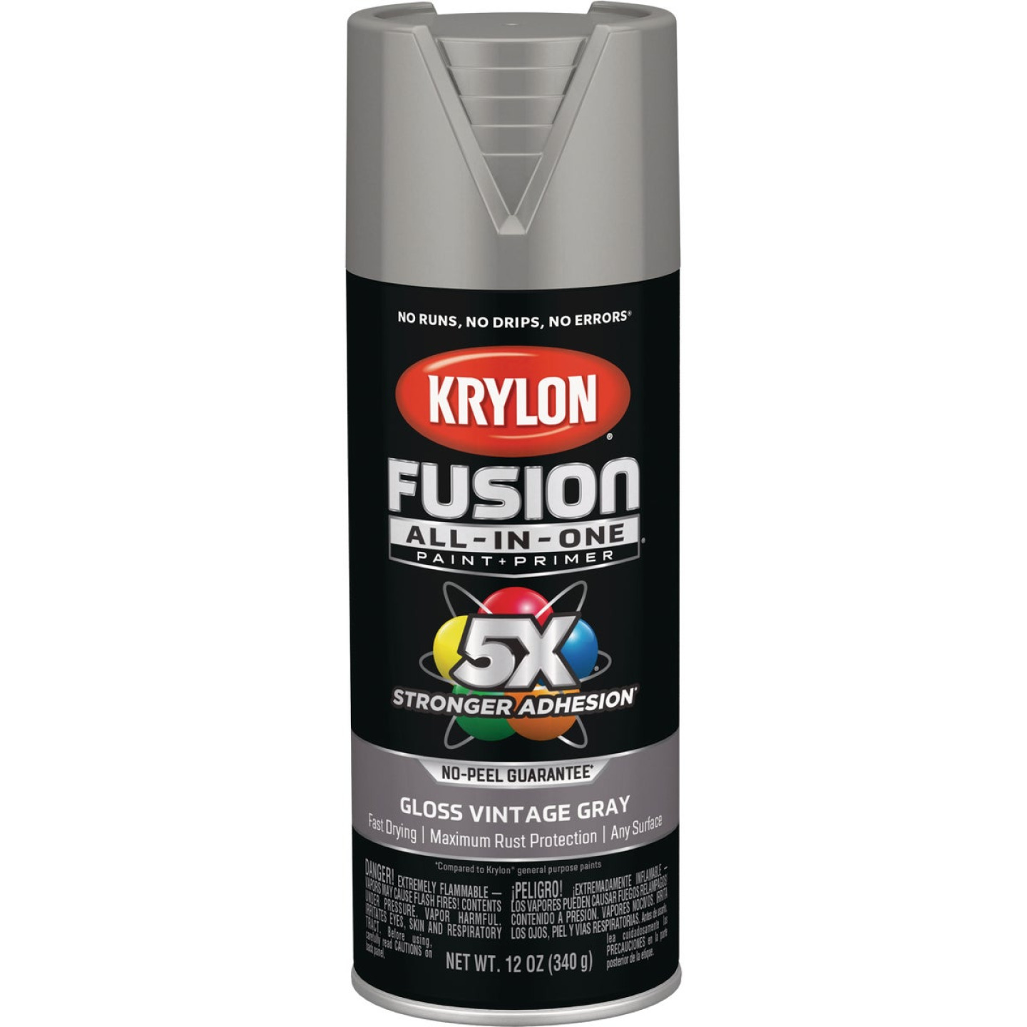 Krylon Fusion All-In-One Gloss Spray Paint & Primer, Vintage Gray Image 1