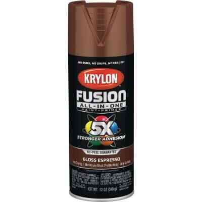 Krylon Fusion All-In-One Gloss Spray Paint & Primer, Espresso