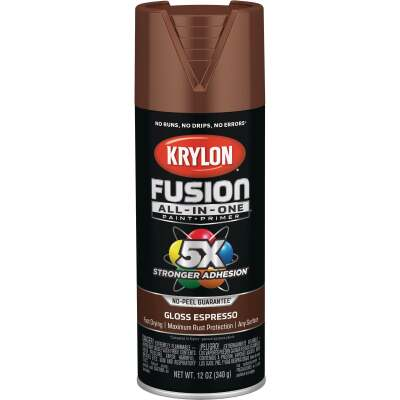 Krylon Fusion All-In-One Gloss Spray Paint & Primer, Espresso