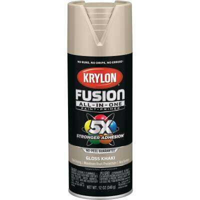 Krylon Fusion All-In-One Gloss Spray Paint & Primer, Khaki