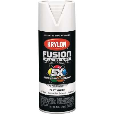 Krylon Fusion All-In-One Flat Spray Paint & Primer, White