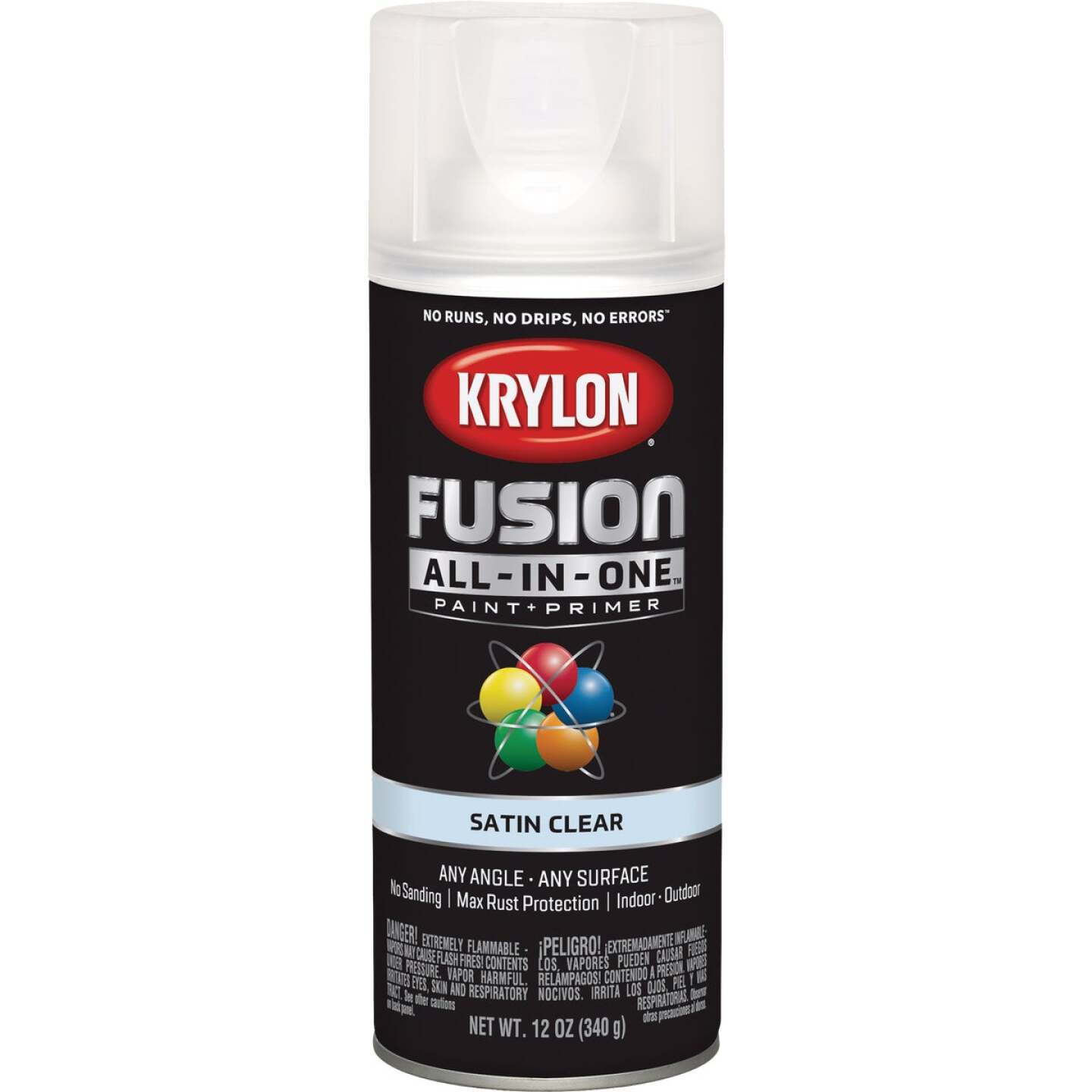 Krylon Fusion All-In-One Satin Spray Paint & Primer, Clear Image 1