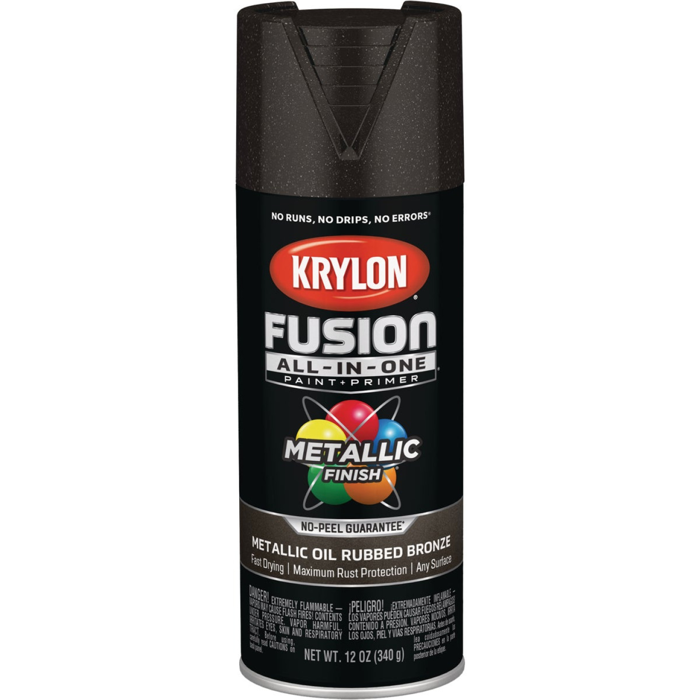 Krylon Fusion All-In-One Metallic Spray Paint & Primer, Oil Rubbed Bronze Image 1