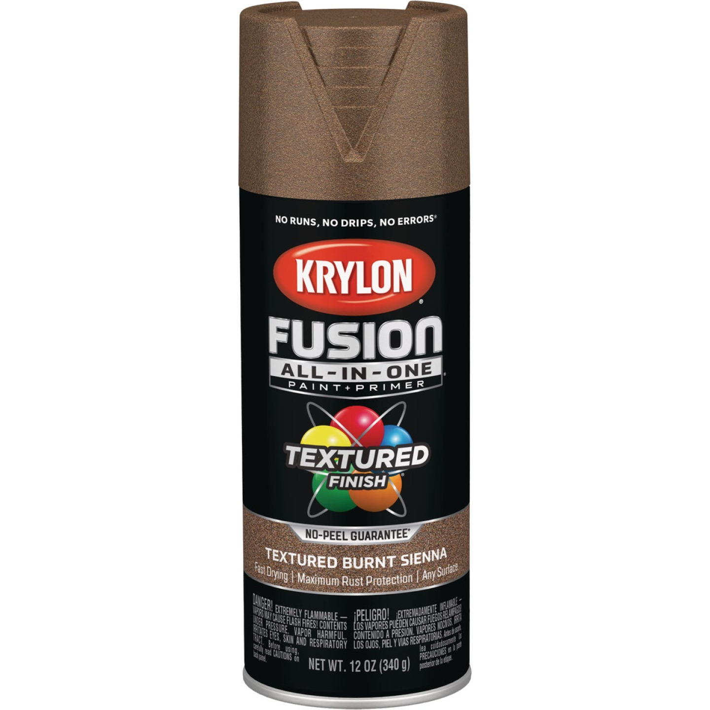 Krylon Fusion All-In-One Textured Spray Paint & Primer, Burnt Sienna Image 1