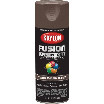 Krylon Fusion All-In-One Textured Spray Paint & Primer, Dark Bronze