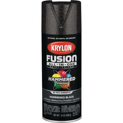 Krylon Fusion All-In-One Hammered Spray Paint & Primer, Black