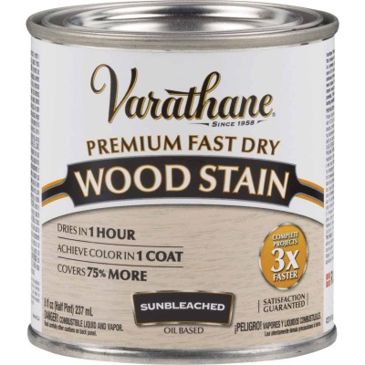 Varathane Fast Dry Sunbleached Wood Urethane Modified Alkyd Interior Wood Stain, 1/2 Pt.