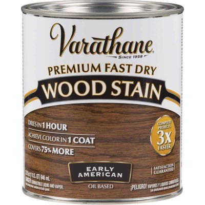 Varathane Fast Dry Early American Urethane Modified Alkyd Interior Wood Stain, 1 Qt.