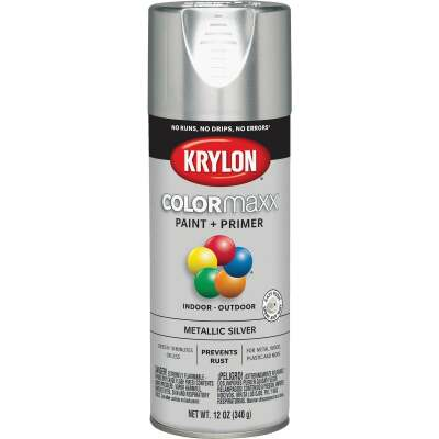 Krylon ColorMaxx 11 Oz. Metallic Gloss Spray Paint, Silver