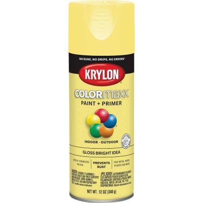 Krylon ColorMaxx 12 Oz. Gloss Spray Paint, Bright Idea