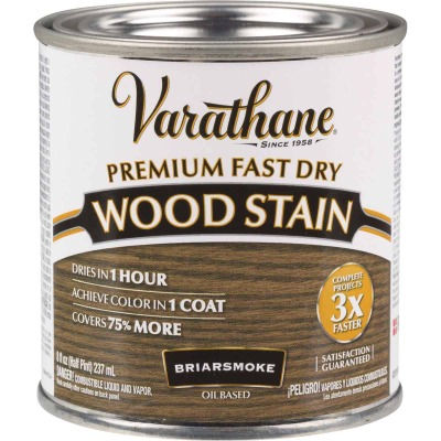 Varathane Fast Dry Briarsmoke Urethane Modified Alkyd Interior Wood Stain, 1/2 Pt.