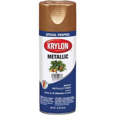 Krylon Metallic 12 Oz. Gloss Spray Paint, Copper