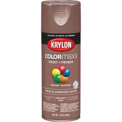 Krylon ColorMaxx 11 Oz. Brushed Metallic Satin Spray Paint, Sparkling Canyon