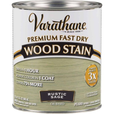 Varathane Fast Dry Rustic Sage Urethane Modified Alkyd Interior Wood Stain, 1 Qt.