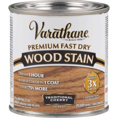 Varathane Fast Dry Traditional Cherry Urethane Modified Alkyd Interior Wood Stain, 1/2 Pt.