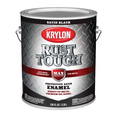 Valspar Anti-Rust Oil-Based Satin Armor Rust Control Enamel, Black, 1 Gal.
