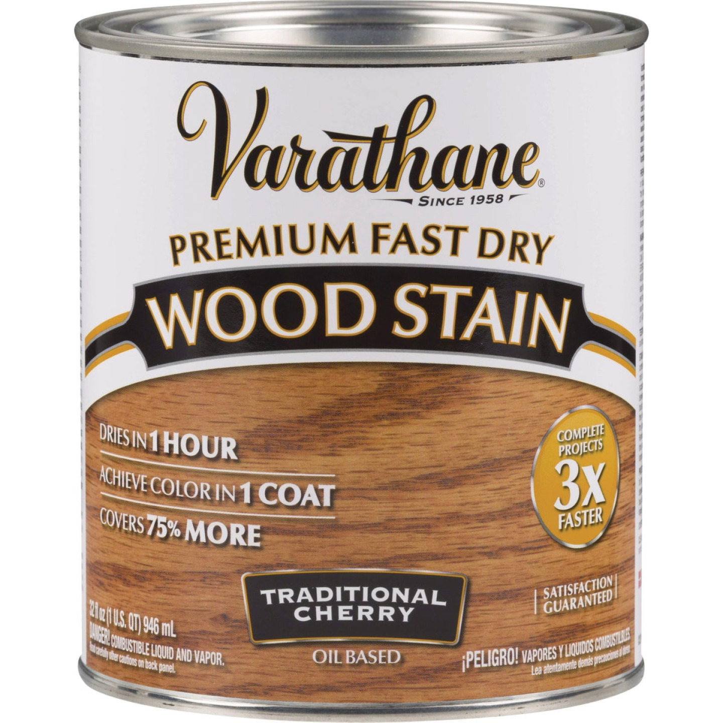 Varathane Fast Dry Traditional Cherry Urethane Modified Alkyd Interior Wood Stain, 1 Qt. Image 1