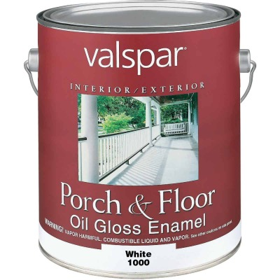Valspar 1 Gal. White Oil Based Gloss Porch & Floor Enamel