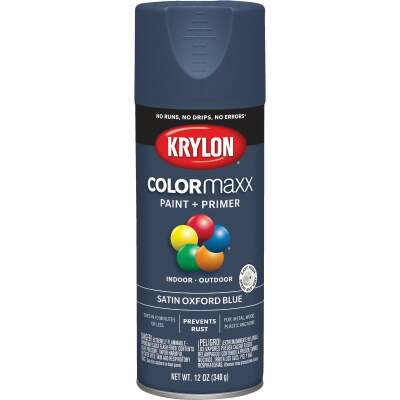 Krylon ColorMaxx 12 Oz. Satin Spray Paint, Oxford Blue