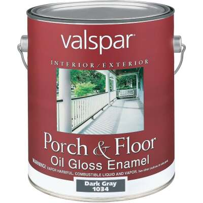 Valspar 1 Gal. Dark Gray Oil Based Gloss Porch & Floor Enamel
