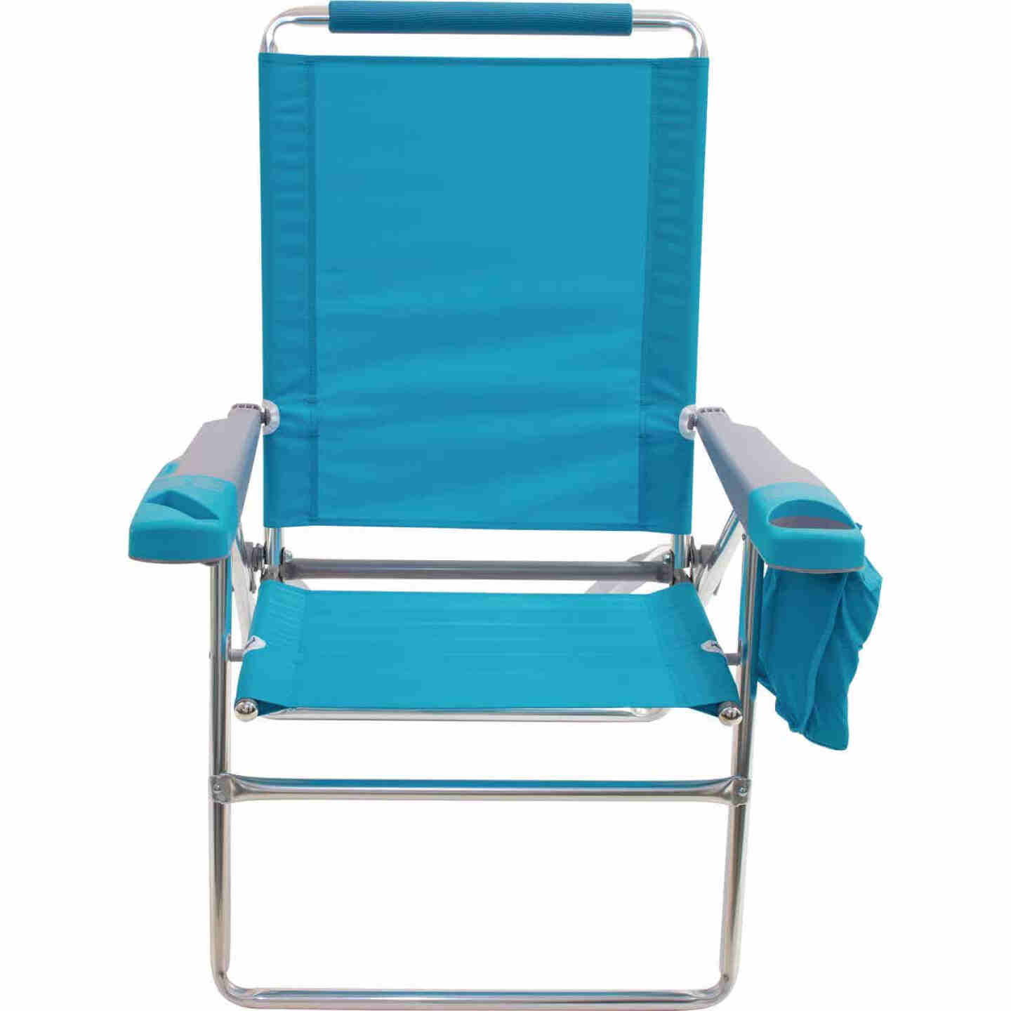 Rio Brands 4-Position Aluminum Folding Beach Chair with Cooler Image 4