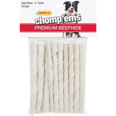 Westminster Pet Ruffin' it Chomp'ems 5 In. Beef Chew Roll (25-Pack)