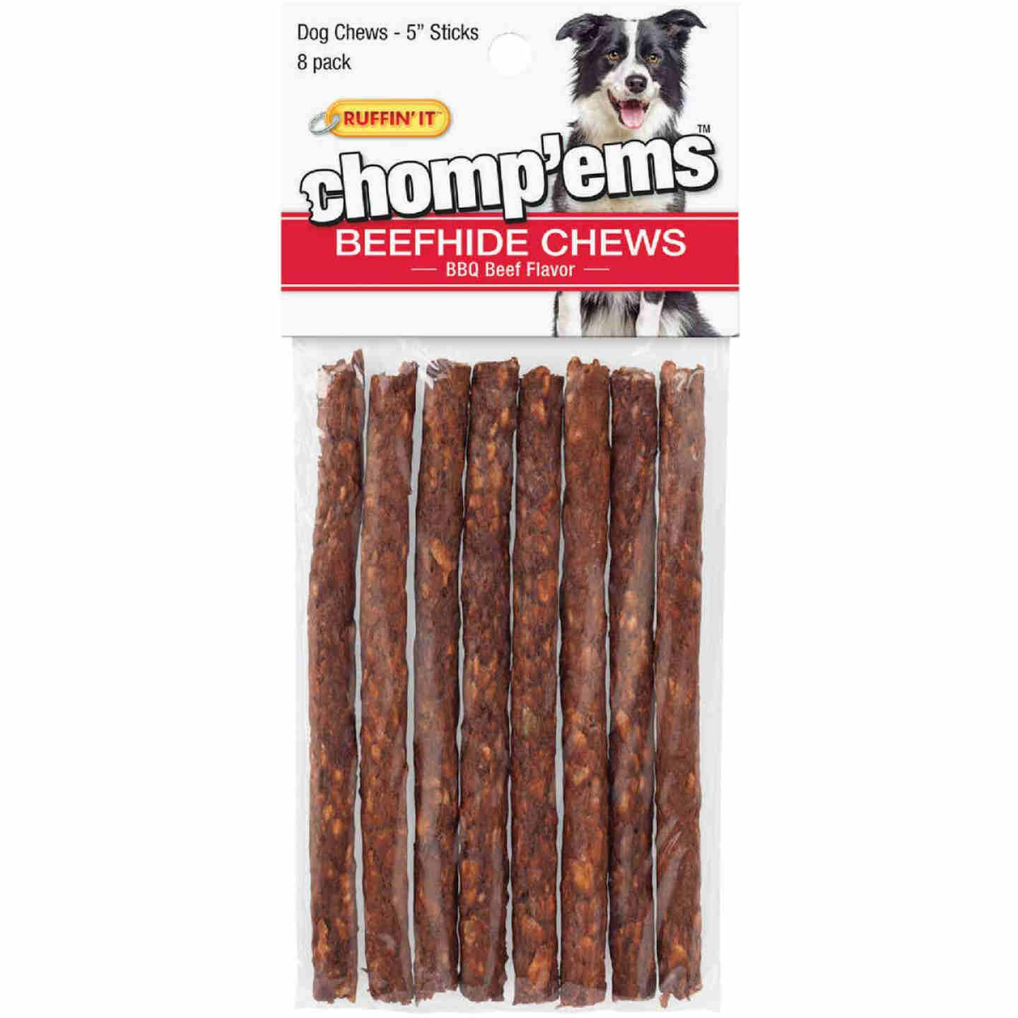 Westminster Pet Ruffin' it Chomp'ems 5 In. BBQ Beef Chew Roll (8-Pack) Image 1