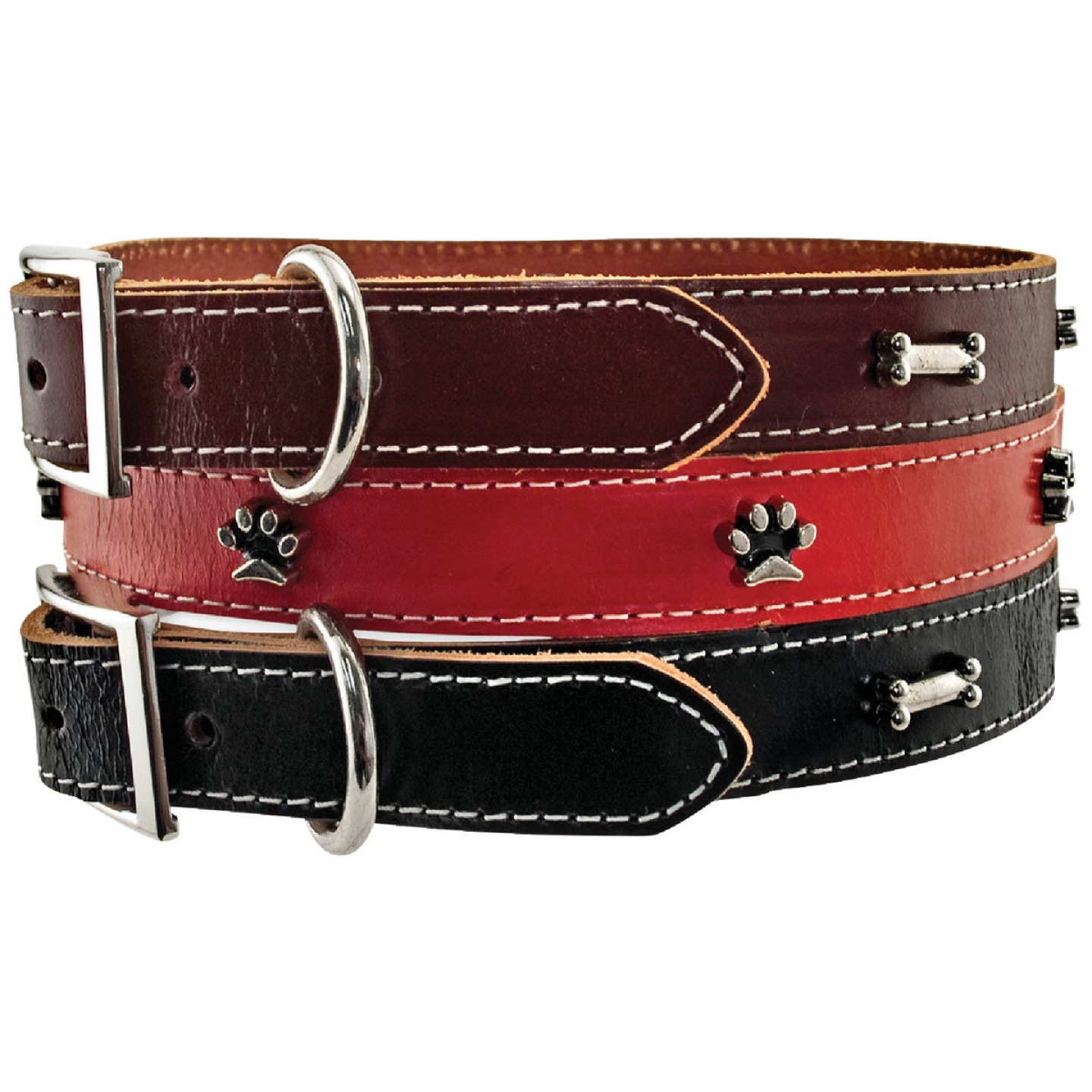 Westminster Pet Ruffin' it Ornamented 20 In. Leather Dog Collar Image 4