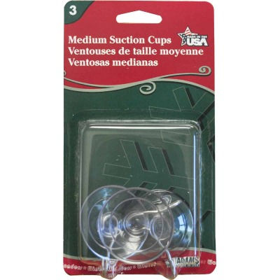Adams 1-3/4 In. 1 Lb. Holding Capacity Suction Cup (3-Pack)
