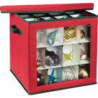 Honey Can Do 15 In. Square Polyester Ornament Storage Container Image 1